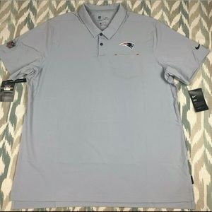 Nike NFL NE Patriots OnField Mens Coaches Polo